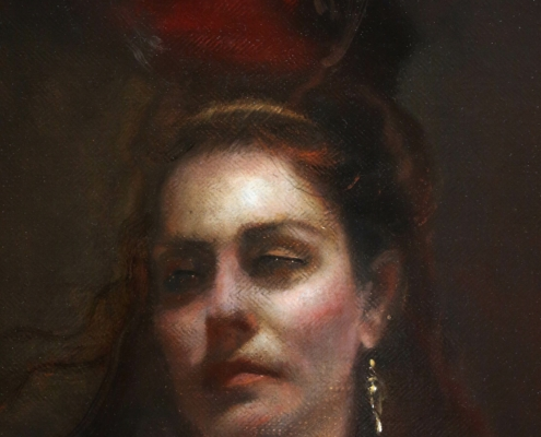 Salome Oil Painting Detail Head
