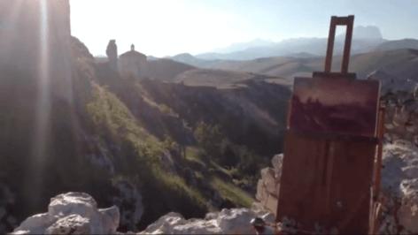 tja-rocca-calascio-sunset-detail-from-video