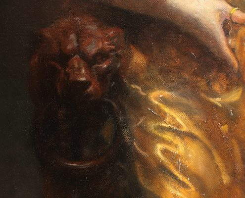 Salome Oil Painting Detail Lion