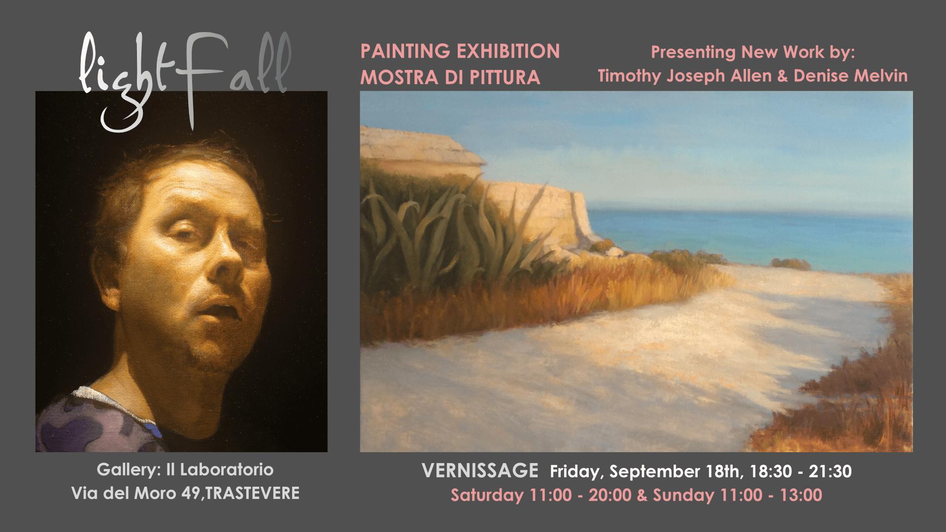 LightFall Painting Exhibition Trastevere